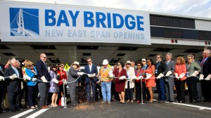 The traditional chain-cutting opened the new Bay Bridge in California on Labor Day 2013